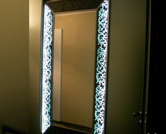 Декор зеркала на двери